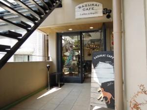 祖師ヶ谷大蔵駅南口のベーグルカフェ『SASURAI CAFE』_カフェ入口