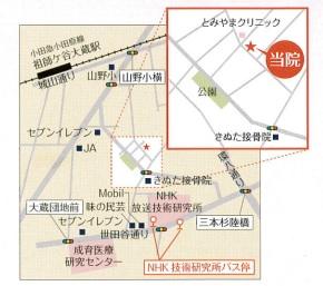 砧ゆり眼科医院_地図