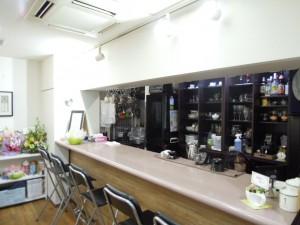 世田谷区砧8-4-15 ルフージュカフェ 店内 カウンター