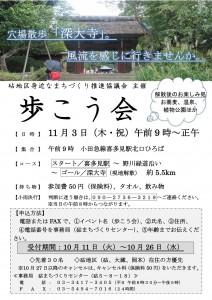 歩こう会ポスター・2016年11月3日(木・祝)
