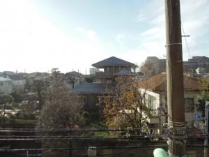 世田谷区千歳台4丁目のルーフバルコニー付2LDK賃貸マンションバルコニーからの眺望