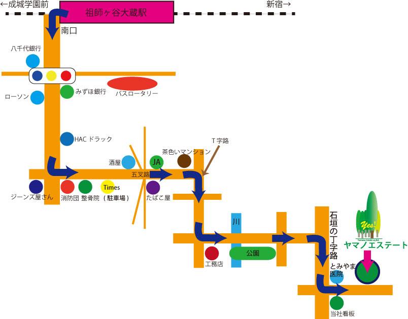 会社までの地図、画像